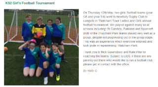 KS2 Girls Football Tournament