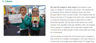 Yr 2 2D and 3D Shapes